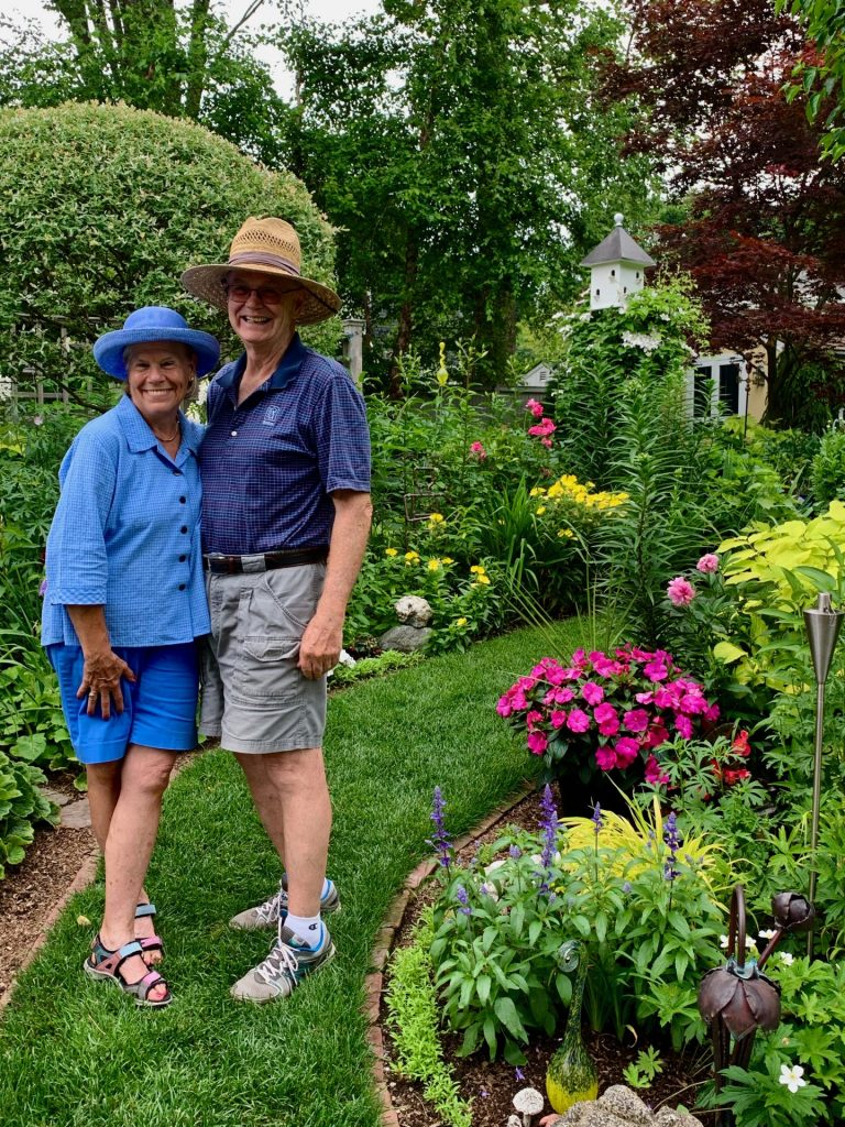 Joyce and Charlie Hannaford, Natick garden